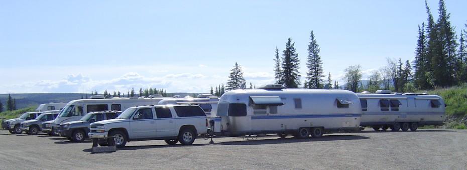 Caravan at camp. Chicken, Alaska.