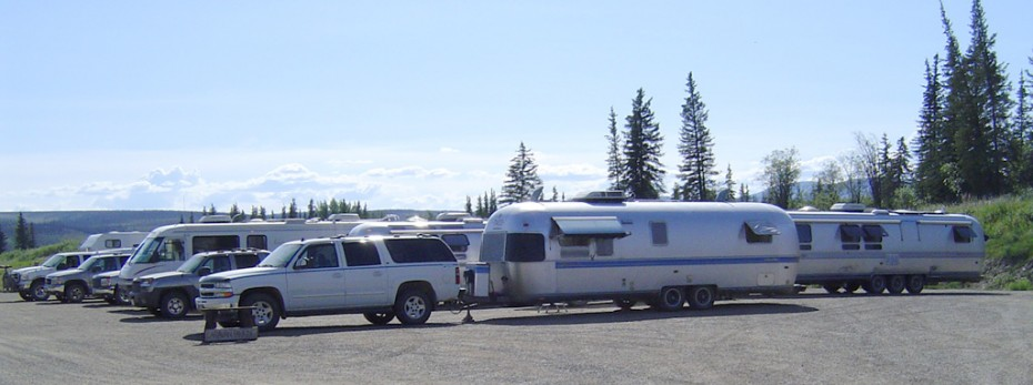 Caravan at camp. Chicken, Alaska.