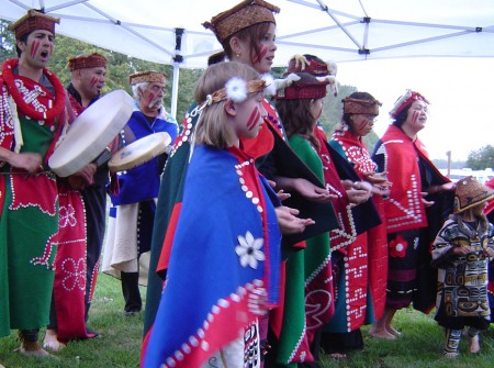 Local Native entertainers. Courtenay, BC.