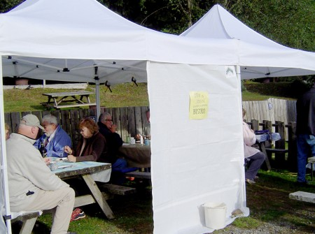 Group tent bistro. Ucluelet, BC.